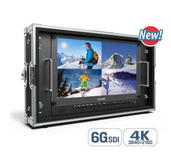 "Lilliput 15.6"" 6G-SDI 4K Broadcast Director Monitor with 6G-SDI, HDMI, VGA & DVI inputs"