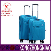 Kong zhongniao leisure luggage parts different sizes customized design trolley luggage
