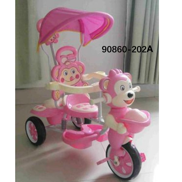 2 In 1 Stroller Good Price Wholesale Softtextile Baby Tricycle 90860-202A