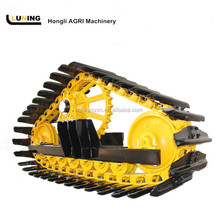 Steel crawler track undercarriage kits for combine harvester John Deere, New holland, Claas in the mud