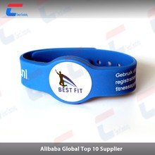 Professional writable passive nfc rfid custom striped silicone wristbands