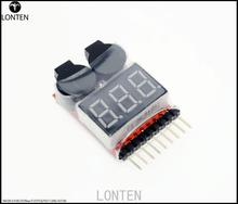Fast Shipping 1PCS Low Voltage Buzzer Alarm 1-8S Lipo/Li-ion/Fe Battery Voltage 2IN1 Tester Best Selling