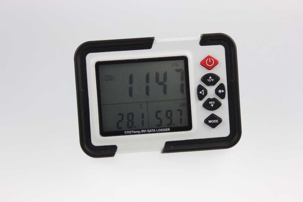 Indoor Air Quality Meter Wallmount CO2 Temperature Monitor Meter Gas Analyzers