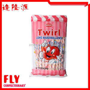 Halal Custom Rope STRAWBERRY Flavour Twisted Marshmallow