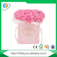 Customized Full Color Printing Luxury Paper Flower Storage Box