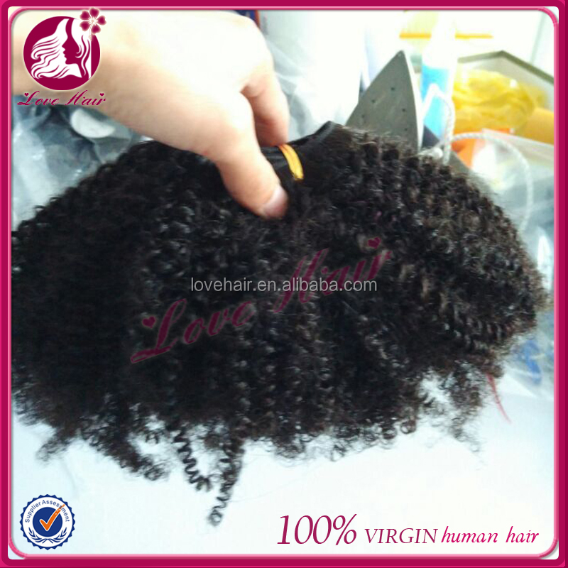 Jerry Curl/Kinky Curl/Afro Curl peruvian virgin hair weave natural black human hair bundles in stock