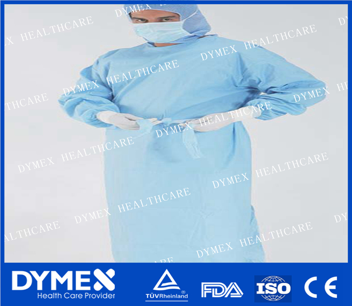 Laminated PP+PE waterproof disposable Knitted Cuff hospital Surgical gowns