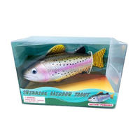 Custom Rainbow Trout Realistic Swimming Fish Water Pool & Bath Toy Battery Operated/OEM Made Electrical Toys China Manufacturer