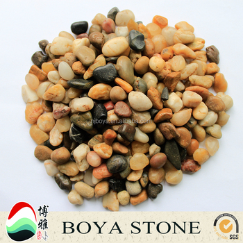 Mixed Polished Chinese Pebbles stone ,pebble garden decoration in pebble price