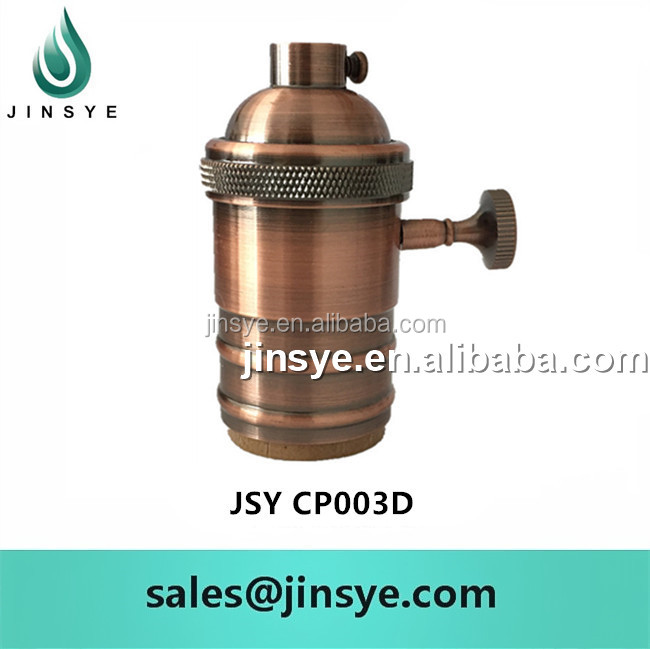 lampholder socket with switch e26 e 27 bronze lamp holder
