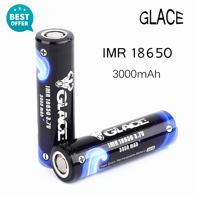 Long life cycle 40A 18650 3.7V rechargeable li-ion lithium 18650 battery with 3000mah