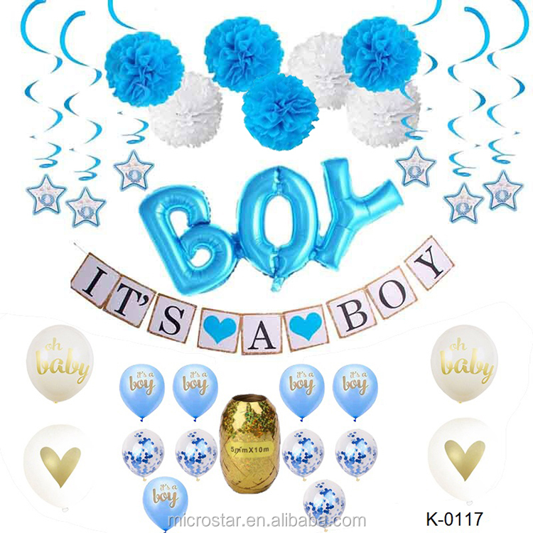 In Stock BOY OR GIRL Balloon Baby Shower Party Decorations Baby Gender Reveal