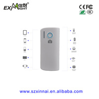New function selfie power bank 4000 mah smart phone battery pack with LED indicators and flashlight