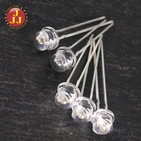 Straw Hat 5mm Clear Lens White LED Light Emitting Diode