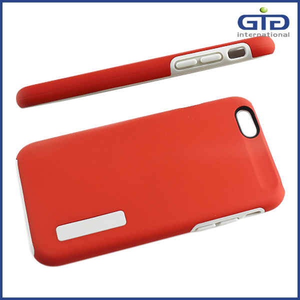 Low MOQ TPU+PC Mobile Phone Cover for iPhone 6 with Elegant Package