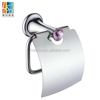 Bathroom crystal zinc toilet paper holder