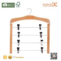 Eisho 4 Tier Sturdy Clips And Special Shape Pants Hanger