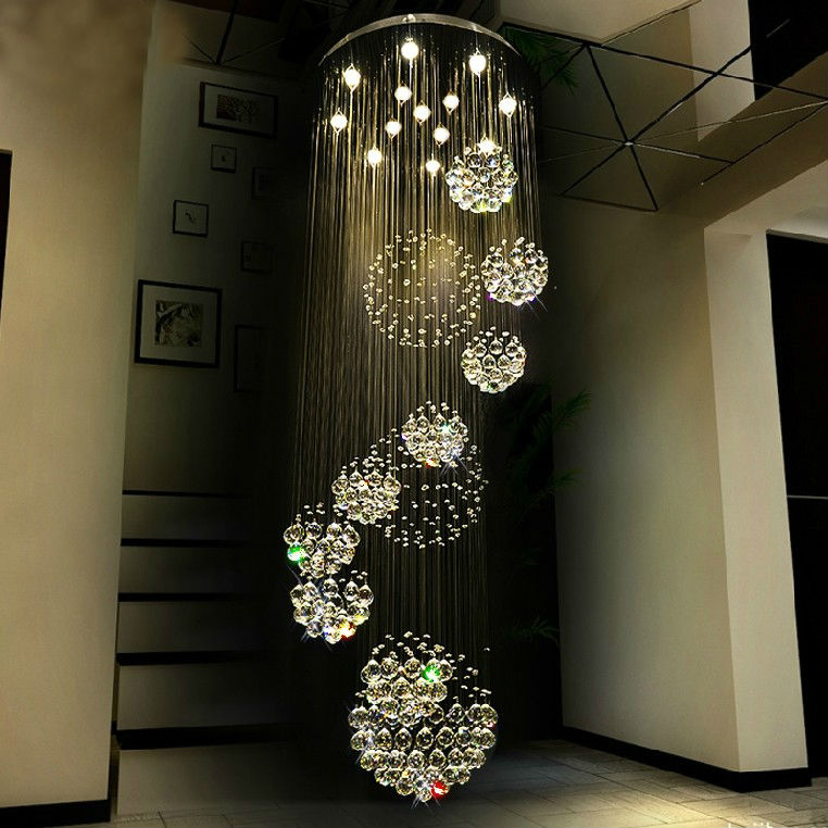 large size crystal ball chandelier light
