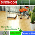 ecofriendly natural high quality ce brushed bamboo flooring strand woven