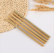 Eco Friendly reusable 8mm cool bamboo drinking straws
