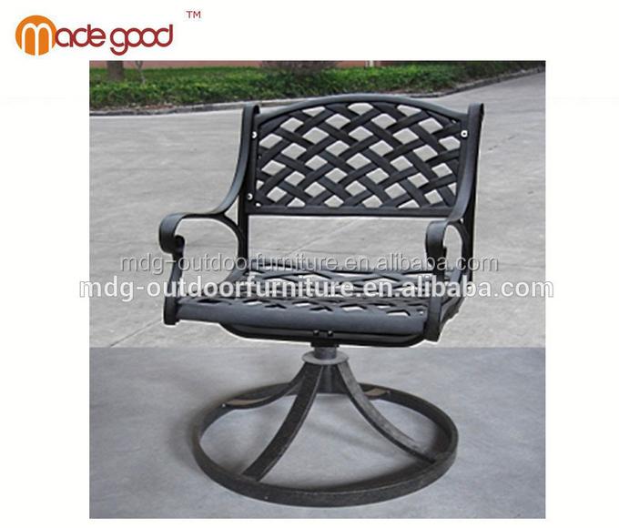 Casting Aluminum Outdoor Garden Furniture Sets Patio Swivel Chair Garden  Classics Outdoor Furniture Black Chair