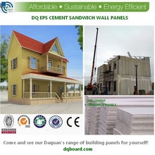 Polystyrene foam insulation plus light concrete equal daquan sandwich wall panels