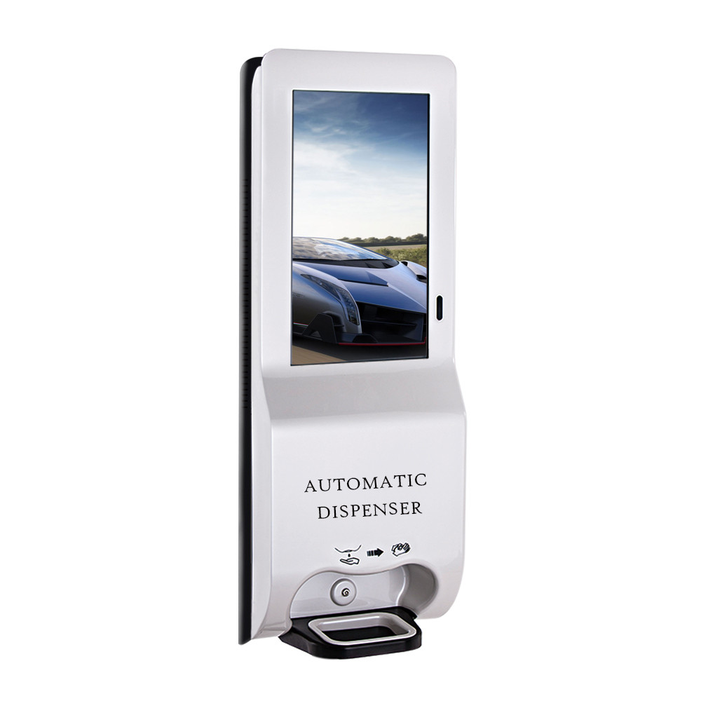 21.5 inch 1080P advertising hospital hand sanitizer dispenser with wifi android function