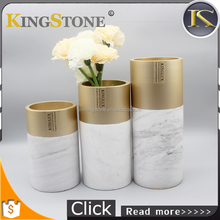 Unique Elegant Tall Decorative Vase Large Marble Stone Flower Vase