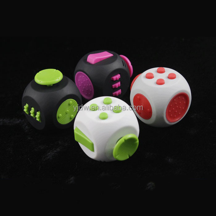 Fidget Dice 6 Sides Cube Anti Anxiety Stress Relief Depression Toys