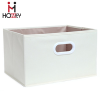 Oem Large capacity non woven boxes folding storage box with handle
