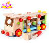 2016 new design kids wooden tool truck toy, best sale children wooden tool truck toy W03C024-J12