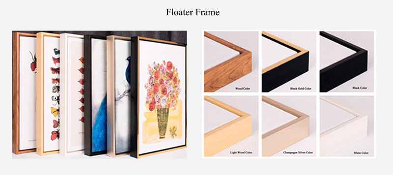 3 Sets Tulip Art Prints with Black Floater Frame