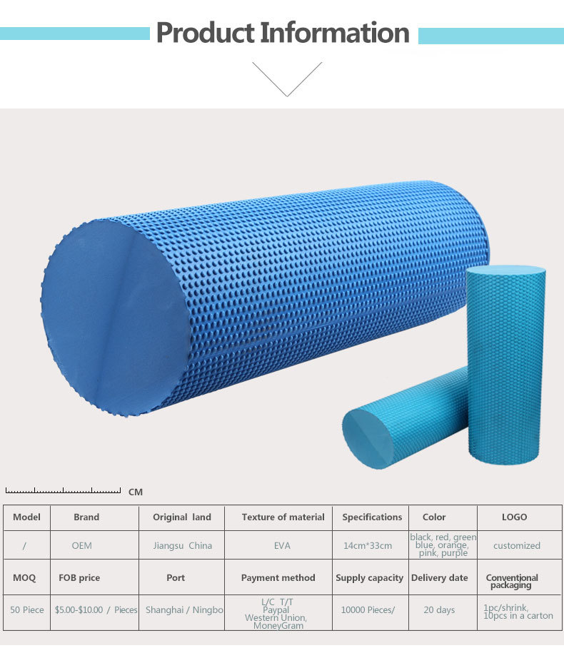 10*30 Cm Massage Fitness Solid Foam Roller Apply For ...