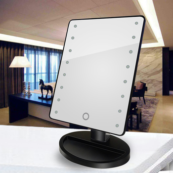 Factory Price Table Round Standing Mirror Makeup, Led Light Make Up Mirror In China
