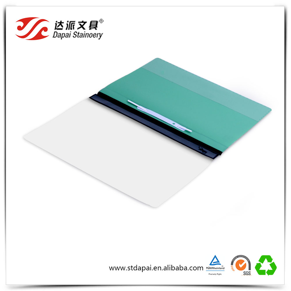 Beautiful Solid Colored Report File A5 Plastic Folder with Paper Clamp