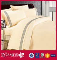 ribbon embroidery 4pcs bed sheet sets polyester