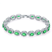 Fashion Jewelry Accessories Colorful Zircon Wedding Rhinestone Bracelet For Women Wholesale