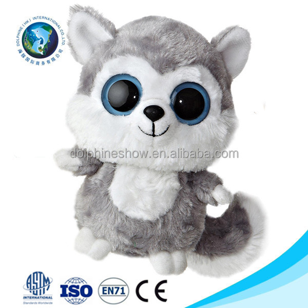 Small cute soft plush dog toy for kids Wholesale OEM custom cute big eyes animal stuffed plush dog toy