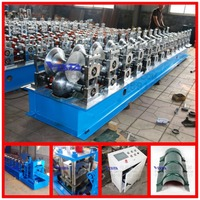 metal roof ridge cap tile cold roll forming machine arch roof forming machine