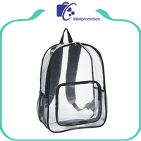 Wholesale waterproof school transparent pvc backpack