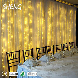 Indoor Battery Operated Micro LED Fairy Curtain Light Waterfall Curtain Light