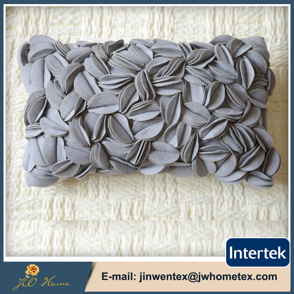 Low price high quality siliconized 100 polyester fiber pillow with flower petal