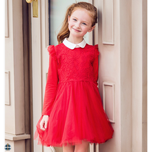 T-GD003 Latest Girls Sweet Princess Puffy Autumn Dress