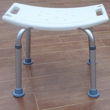 Adjustable height lightweight folding backrest aluminum shower chair toilet chair