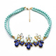 xl00474 Wholesale Stock Mint Bead Necklace Jewelry Women Fashion Statement Necklace