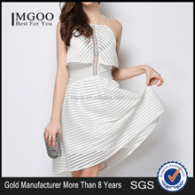 MGOO Cheap Price OEM Services Women Plus Size Dress Crochet White A Line Off Shoulder Party Latex Long Dress K0722178
