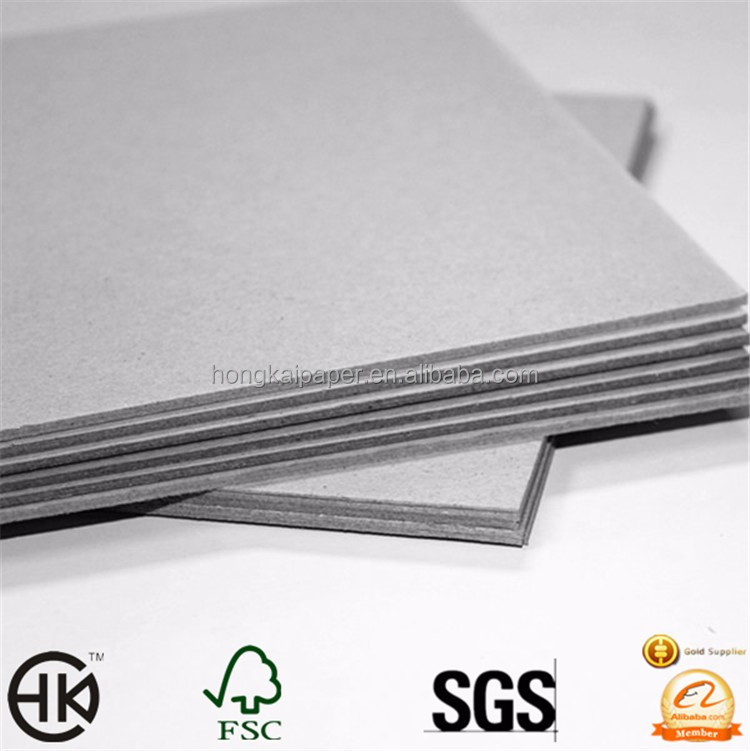 1mm 2mm 3mm and thickness gsm rigid grey board
