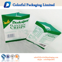 Customized back seal plastic food grade packaging bags for crisp