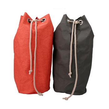 Fashionable custom washable kraft paper large drawstring bags Washable Paper Storage Bag