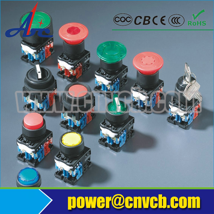BB126 CE,IP65,RoHS extended momentary and maintained mushroom button yueqing